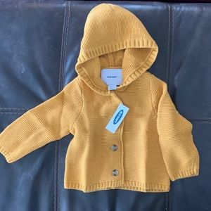 Old Navy button front hooded sweater/cardigan
